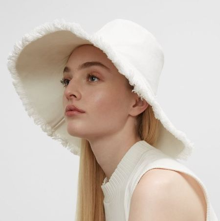 HAT ATTACK Frayed edge Canvas Packable Hat