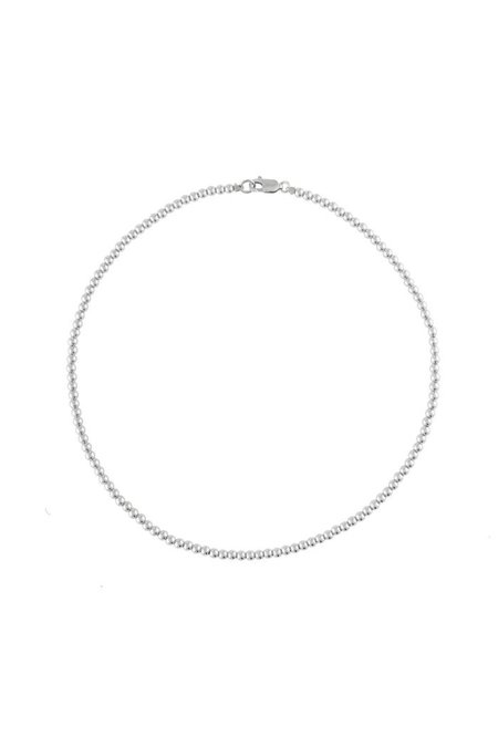 """Alexa Leigh 16"""" 3mm Ball Necklace - Sterling Silver"""