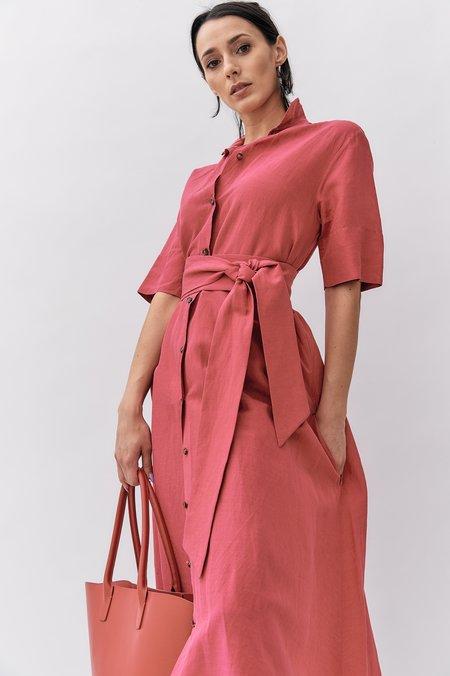 Mansur Gavriel Leather Handbag - Red