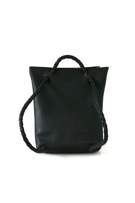 ARA Handbags Backpack No. 1 (Black Oil Tanned)
