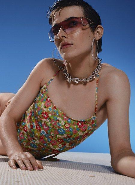 Eliza Faulkner Scoop Back One-Piece - Floral