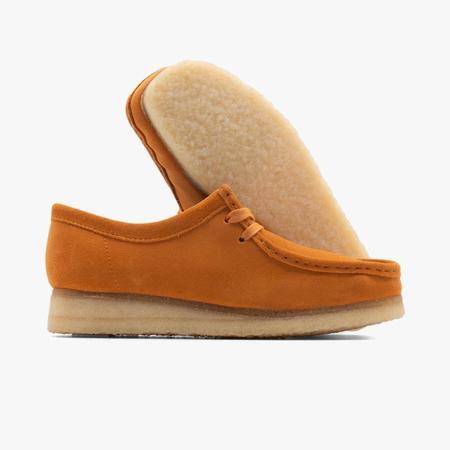 Clarks Originals Women's Wallabee shoes - yellow