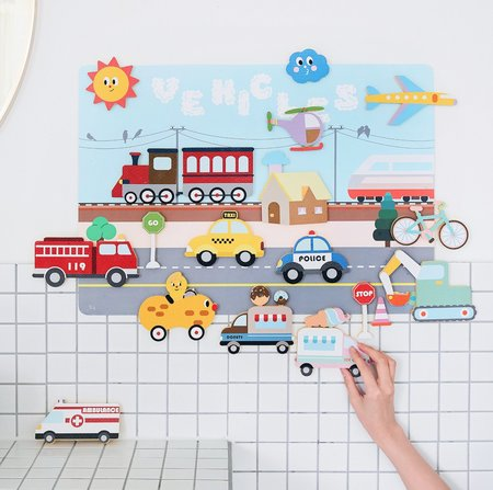 kids Nahthing Project Cars & Trucks Creative Play Set toy