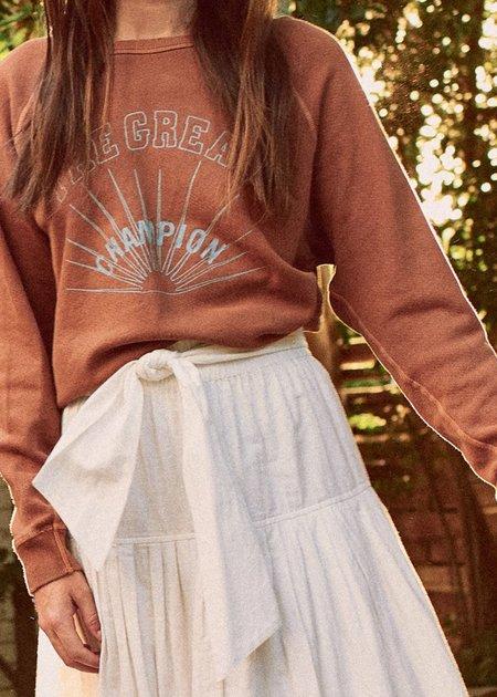 The Great. The Great Champion Sweatshirt - Rust