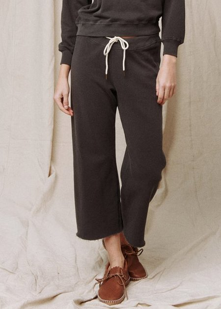 The Great Wide Leg Sweatpant - Washed Black