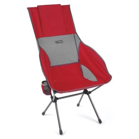 Helinox Savanna Chair - Scarlet/Iron Block
