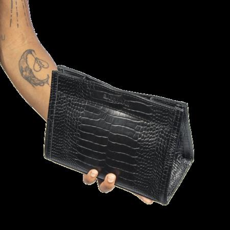 Barragan Croco Mariconera Belt Bag - black