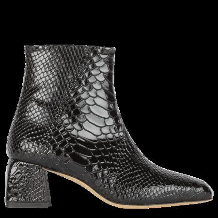 Kalda Marti Embossed Snake Boot - Black