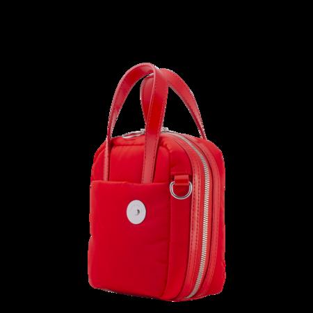 KARA Nylon Brick Bag - Red