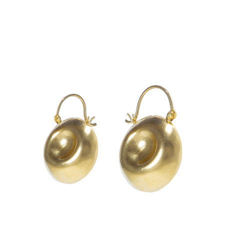 Beaufille Beaufille Oyster Hoops - Yellow Gold