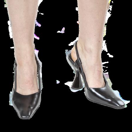 DORATEYMUR  Stainless Slingback - Black