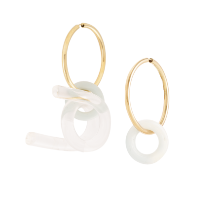 Esteban Cortazar Turquoise and Resin Earring Set