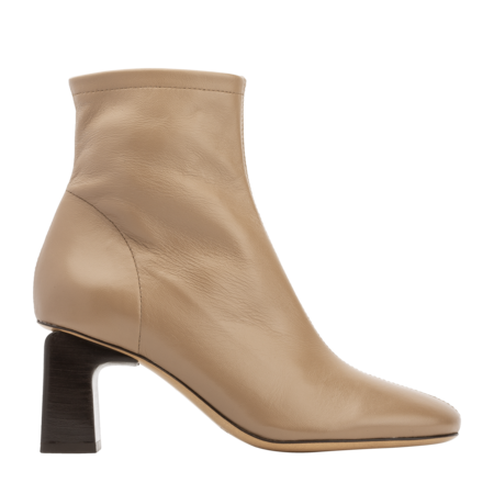 BY FAR Vasi Leather Boots - Nude