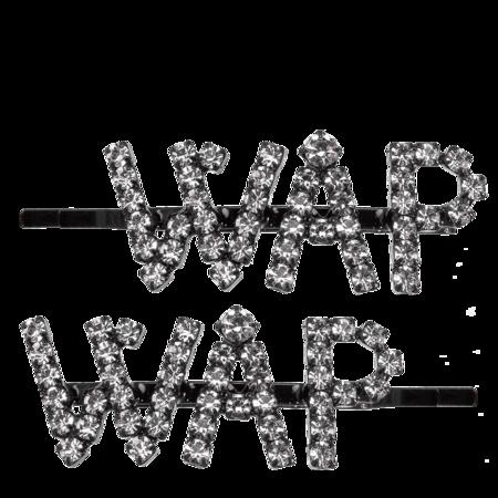 Ashley Williams WAP Hair Clips - Black & Crystal