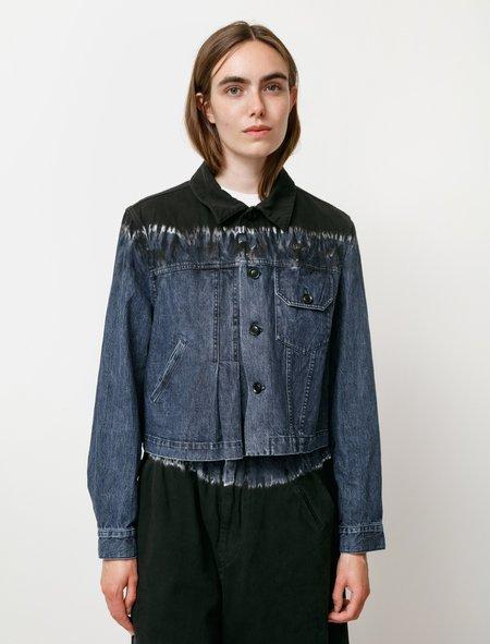 Y's by Yohji Yamamoto Reverse Tie Dye Denim Jacket - Denim Blue