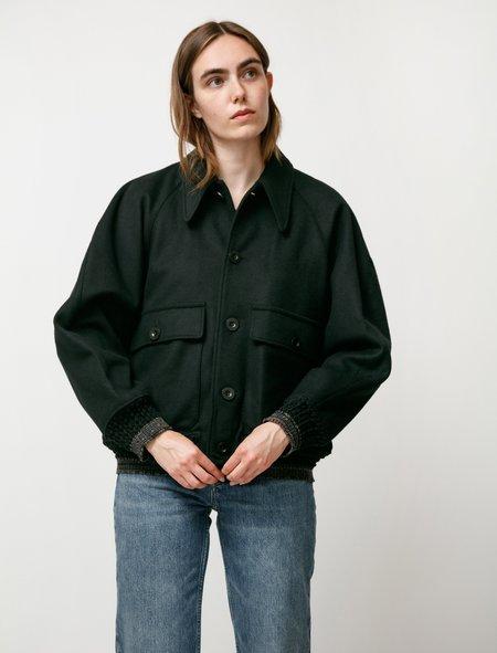 Y's by Yohji Yamamoto Ribbed Cuff Blouson Jacket - Black