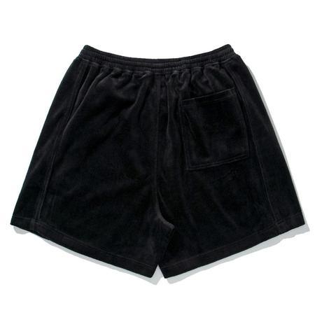 PLEASURES Party Animal Velour Shorts - Black