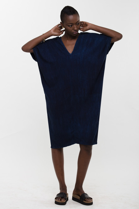 Osei-Duro Sola Panel Dress in Natural Indigo