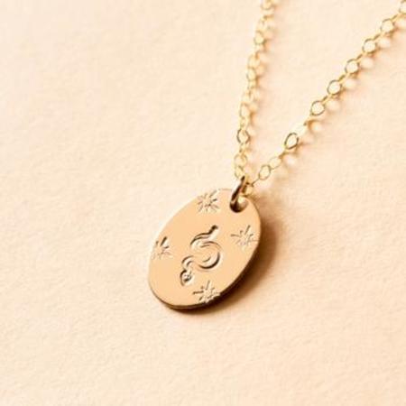 Amara Blue Designs Mystic Snake Oval Signet Necklace