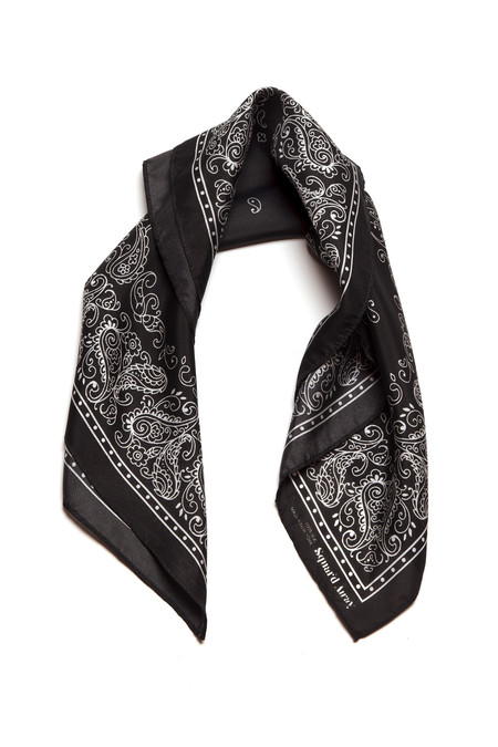 Squar'd Away The Badlands scarf - almost black