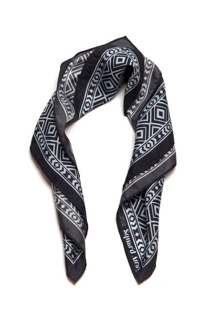 Squar'd Away The Stone Fox Scarf, navy