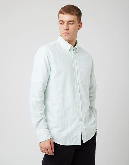 Portuguese Flannel Belavista Stripe Shirt - Light Green