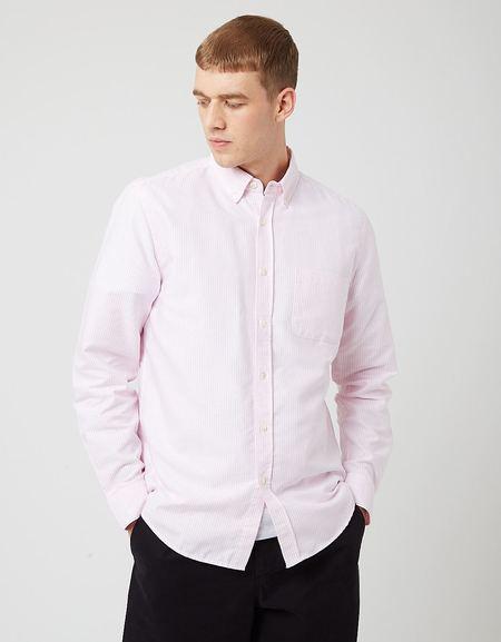 Portuguese Flannel Belavista Stripe Shirt - Pink