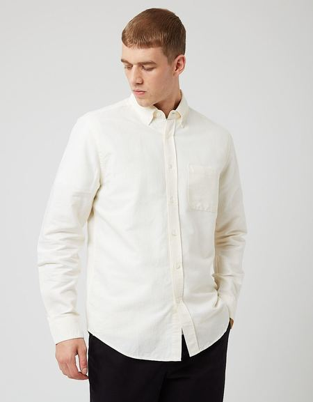 Portuguese Flannel Belavista Stripe Shirt - Yellow