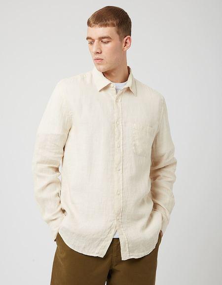 Portuguese Flannel Linen Shirt - Raw Beige