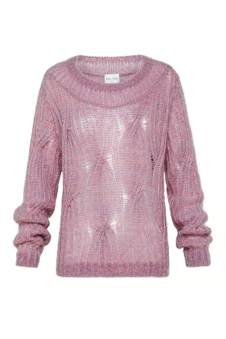 Forte Forte Braided Knit Sweater - Rose
