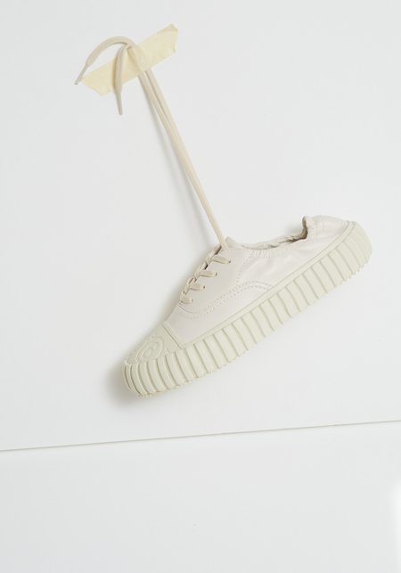 MM6 Maison Margiela Low Top Leather Sneaker - Off White