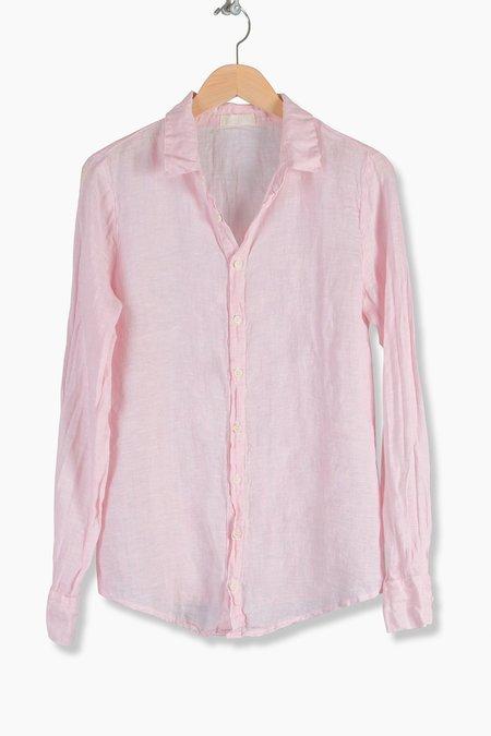 CP Shades Romy Chambray Linen Shirt - pink