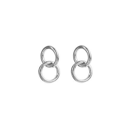 Soko Kumi Mini Hoop Studs - Silver