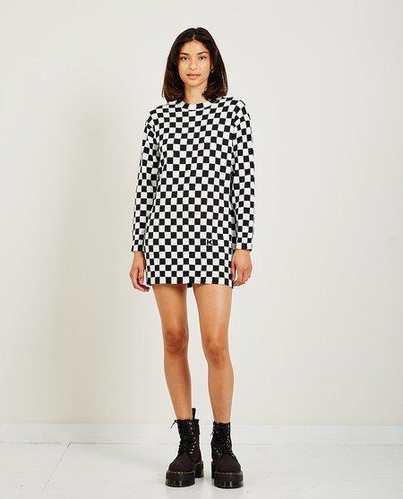 Kenzo Checkered Dress - Black/White
