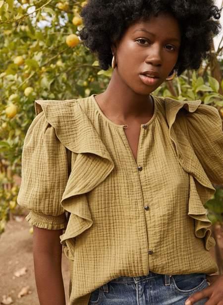 Saylor Alisha Blouse - Olive