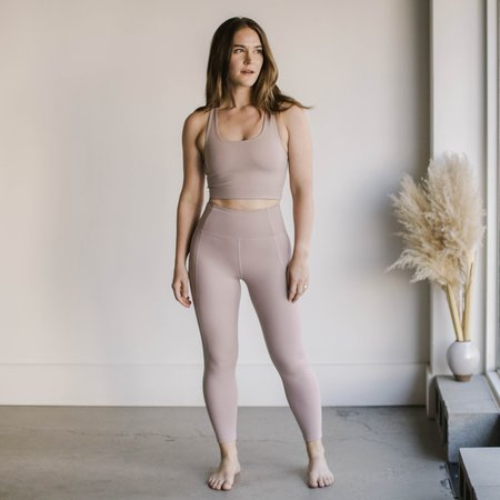 Girlfriend Collective High Rise Compressive Leggings - Quartz