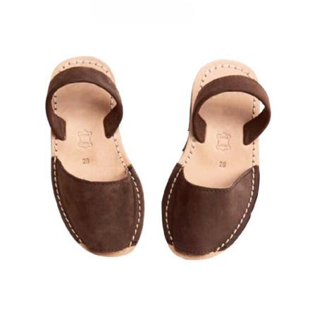 KIDS Belle Enfant Avarca Sandal - BROWN