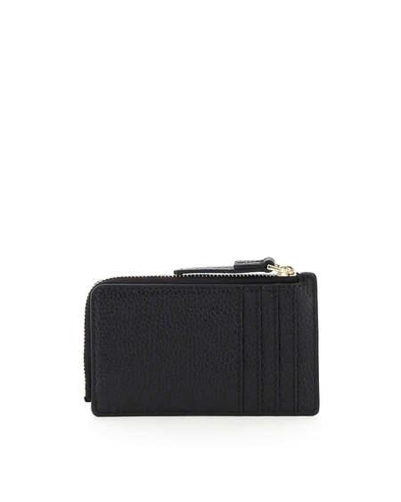 Marc Jacobs Logo Leather Cardholder wallet - black