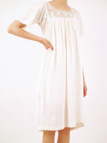 Vintage gauzy dress - white