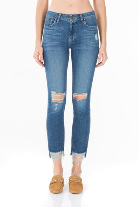 Fidelity Denim Stevie Crop - Morocco Blue