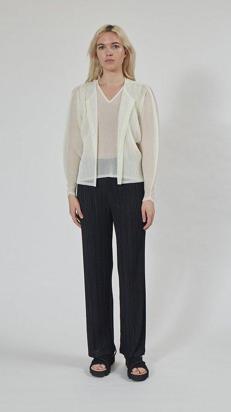 Issey Miyake Pleats Please Tatami Cardigan - White