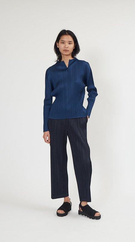 Issey Miyake Pleats Please Thicker Bottoms 2 Pant - Blue