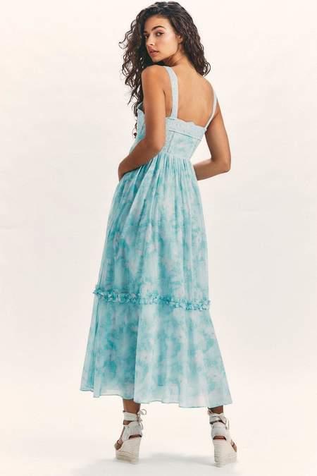 LoveShackFancy Ayala dress - Aqua Sea