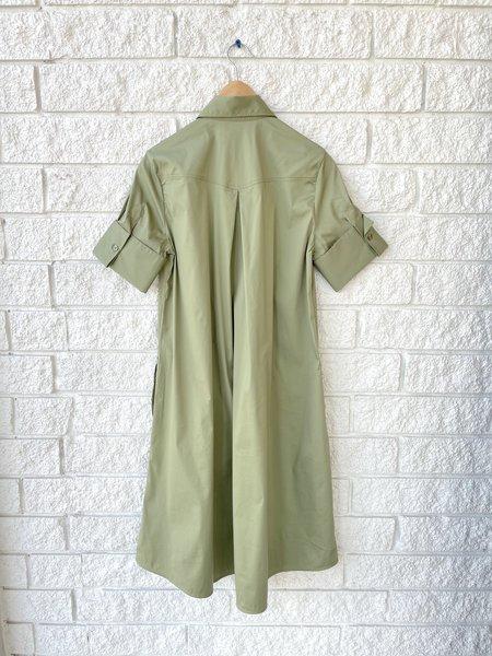 Lee Mathews Elizabeth Western Shirtdress - Army