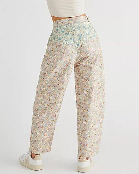 KURT LYLE Suzi Pants - pink/Green Mini Floral Combo