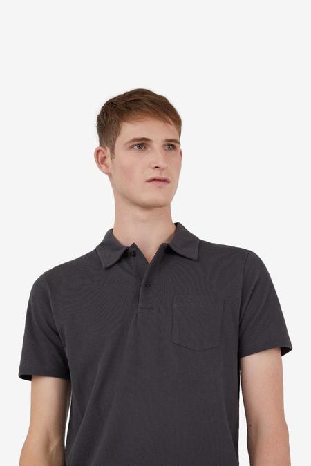 Sunspel Short Sleeve Riviera Polo TOP - Charcoal