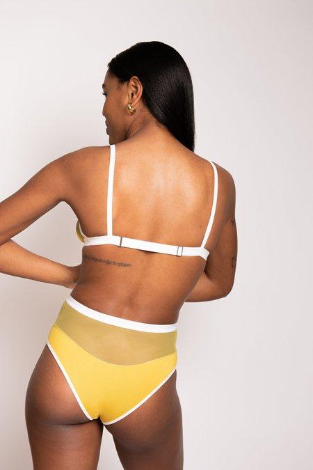 Mary Young Logan High Cut Bikini Pantie - Citrine
