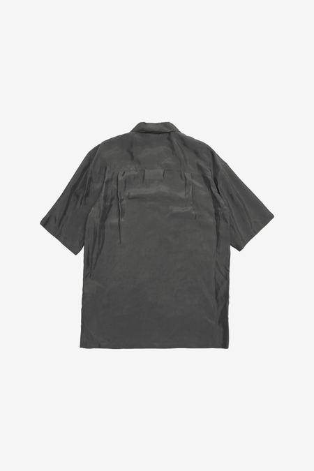 AMOMENTO Half Silky Shirts - Blue Grey
