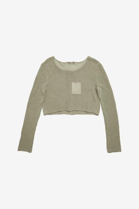 AMOMENTO Natural Linen Cardigan - Olive