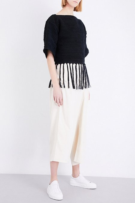 Study NY Cropped Weaving Hand Sweatshirt